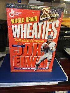 Denver Broncos John Elway Mini 1993 Wheaties Box +19 Opened Boxes