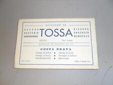 ESPAGNE RECUERDO DE TOSSA CARNET DE 10 CARTES POSTALES ANCIENNES (CARNET COMPLET
