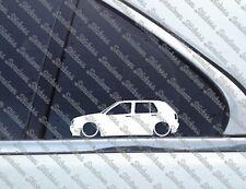 2x Lowered stickers auto aufkleber - for VW Golf 3 / mk3 (5-door) GTI / VR6