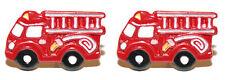 RED FIRE TRUCK ENGINE STUD EARRINGS (S582)