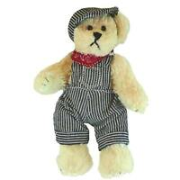 Unipak - 8'' Beige Bear with Red and Black Jacket and Overalls