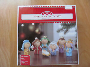 Holiday Time Nativity Set 7 PIECES Resin