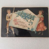Birthday Greetings Postcard Vintage Unposted Germany Victorian