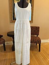 Adrianna Papell Great White Way Eyelet Maxi Dress Size 12 NWT!  CLEARANCE!!!