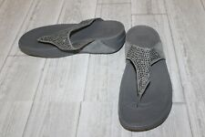 **Fitflop Novy Thong Sandals - Women's Size 8 - Gray