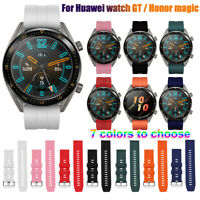 Silicone Watch Band Strap 22mm for Huawei Watch GT Active Elegant/Honor Magic~