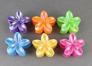 Mini Floral Hair Clip Set of 4 Pink Lavender Cream Pink HCL00008
