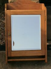 More details for antique bathroom cabinet bevelled mirror good condition