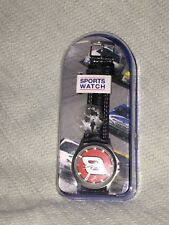 NASCAR # 8 Dale Earnhardt Jr. Sports Watch Black Leather Band Round Face in case
