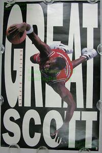 NITF! Vintage Original NIKE Poster ☆ GREAT SCOTT ☆ Scottie Pippen Chicago Bulls