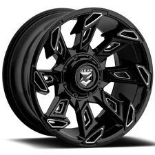 """4-Gear 752BM Slayer 20x10 6x135/6x5.5"""" -25mm Black/Milled Wheels Rims 20"""" Inch"""