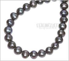"15""+ Peacock Gray Freshwater Pearl Potato Beads 12mm #17088"