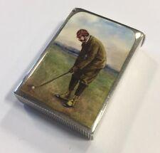 Un rare argent & émail golf vesta/match box birmingham 1892 par john banks
