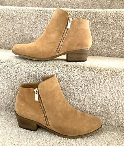 River Island Ankle Chelsea Boots Uk 6 Women's Tan Suede Soft Leather Flat Shoes