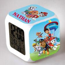 Reveil cube led lumière nuit alarm clock personnalisé prénom réf 16