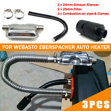 For Car Diesel Heater Exhaust Silencer + Air Intake Filter + Induction Pipe Hose