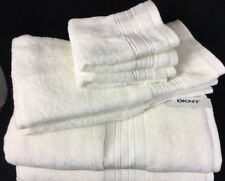 Dkny Six Piece Solid Ivory Bathroom Towels Set Bath Hand Face