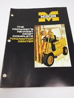 Vintage Caterpillar Towmotor Brochure Midcon Advertising