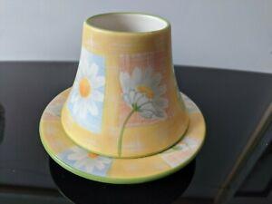 Yankee Candle - Linen Daisy Small/Medium Shade + Plate - Brand New Unused !!!