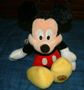 VINTAGE - EARLY 2000'S - 10 INCH MICKEY MOUSE BEAN BAG