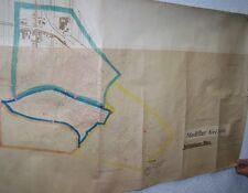 Biglietto Grande città corridoio Geithain 1: 3000 di 1936, cartina 130 x 65 cm
