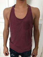 Brave Soul Tanktop Top Shirt ärmellos Unterhemd rot Gr. M 60% Baumwolle wie NEU