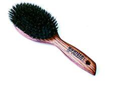 Spornette Deville Cushion Oval Boar Bristle Hair Brush (#342) With Wooden Handle