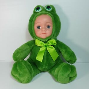 Baby Doll Dressed Up in a FROG Costume 25cm - Tamarr Giftware Brand