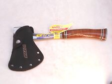 Sportsmans stacked leather handle hatchet by Estwing with Nylon sheath