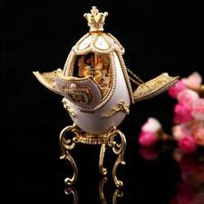 Russian Princess Musical Rotating Carousel Egg plays Fur Elise, pendant necklace