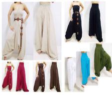 Harem Machine Washable Regular Size 100% Cotton Pants for Women