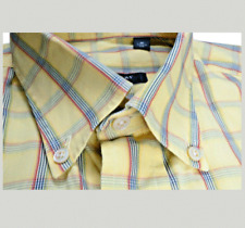 Burberry London Mens Dress Shirt M Plaid Fashion Check Made in USA Designer EUC