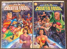 JLA Created Equal #1,2 DC Comics Nicieza Maguire Rubinstein Complete Set lot