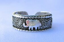 Elephants Design ! New ! Sterling Silver (925) Adjustable Toe Ring