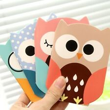 1Pc Fashion Owl Pattern Pocket Memo Notebook Planner Notes Sticky Paper Notepad