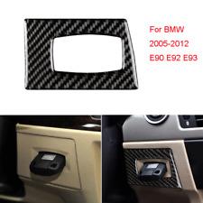 Carbon Fiber Interior Key Hole Frame Trim Cover For Bmw 2005-2012 E90 3 Series