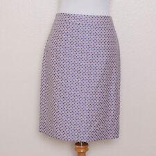J. Crew Lavender Purple and Blue Polka Dot Classic Pencil Skirt Size 6 NWT