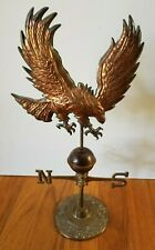 "Vintage Tabletop Eagle Weather Vane Brass Copper 14"" Tall"