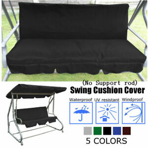 Replacement Swing Seat Canopy Cover Set Garden Chair Hammock Cushion 3 Seater