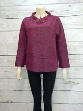 Wool Blend Jumper Size 14 Ladies Womens Burgundy Red Sweater Top