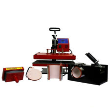 Swing Heat Press 5in1 Red Star 29x38 CAP PLATE MUG Sublimation T-Shirt Combo A6
