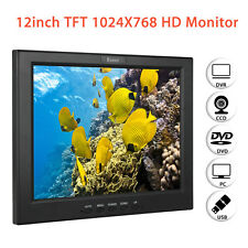 "Portable 12"" TFT LCD Color Monitor VGA BNC Video Audio HDMI For PC CCTV DVR FPV"