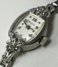 Bulova 5AD Wind Up Serial # P95617 10K Rolled Gold 21 Jewels Watch 2 Diamonds