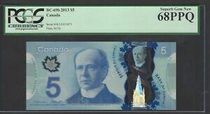 Canada 5 Dollars 2013 BC-69b Uncirculated Graded 68