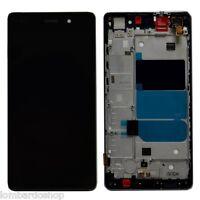 DISPLAY LCD + TOUCH SCREEN + FRAME VETRO VETRINO HUAWEI P8 LITE NERO BLACK