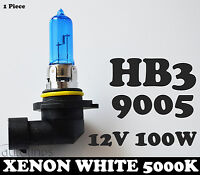 1x 12V HB3 9005 100W Xenon White 5000k Halogen Car Headlight Lamp Globes Bulbs