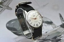 Vintage HMT Pilot Winding Men's Military Watch with White Dial