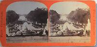 Versailles Francia Foto Estéreo Papel Vintage Hacia 1860