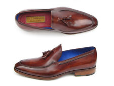 Paul Parkman Men's Tassel Loafer Brown Leather Upper and Leather Sole (ID#073-BR