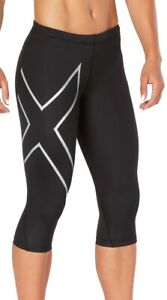 2XU Elite Womens 3/4 Capri Compression Tights - Black